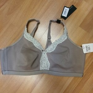 Curvy Couture Cotton Lux Unlined Bra,  Sz 42D, NWT